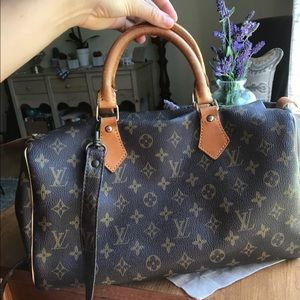 Vintage Louis Vuitton Satchel W/ Crossbody Strap